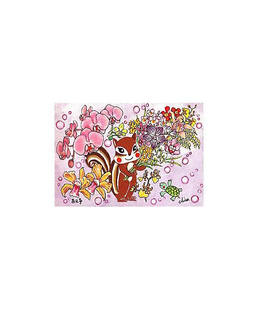 くるみのクッキー 蘭の花束