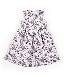 Tartine et Chocolat(Baby&Kids) /タルティーヌ・エ・ショコラ ジャガードフラワージャンパースカート
