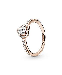 PANDORA/パンドラ Sparkling Elevated Heart Ring