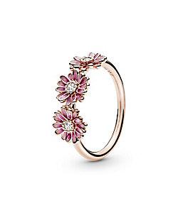 PANDORA/パンドラ Pink Daisy Flower Trio Ring