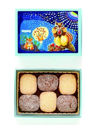 <西光亭>  ハーフ&ハーフ 花火 【アーモンドクッキー&チョコアーモンドクッキー】