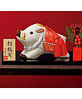 【お歳暮】送料無料! 【A208133】〈真多呂〉江戸木目込 干支「招福亥」 【三越・伊勢丹/公式】