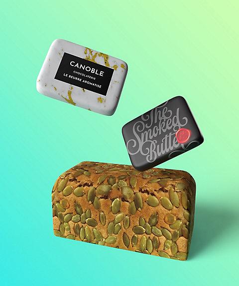 <ナショナル デパート> お酒と楽しむ個性的なパンとバターのセット 【三越・伊勢丹/公式】