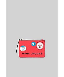 THE MARC JACOBS/ザ マーク ジェイコブス THE BOX PEANUTS AMERICANA SLGS TOP ZIP MULTI WALLET