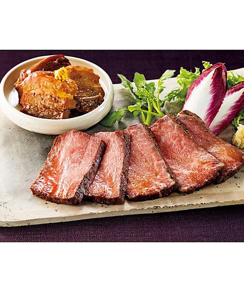【お歳暮】【送料無料】 【C312113】〈日本料理なだ万〉黒毛和牛ローストビーフ・黒豚の角煮詰合せ 【三越・伊勢丹/公式】