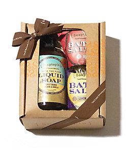 Soaptopia/ソープトピア Liquid Soap+Bath Saltmini2p GIFT BOX SET(限定品)