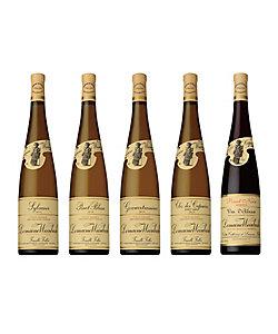 049.〈ヴァインバック〉の品種別赤・白ワイン5本セット