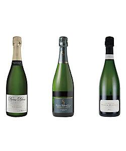 055.シャンパーニュ小規模生産者飲みくらべスパークリングワイン3本セット