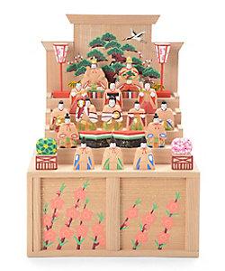 瀬谷 桃源/セタニ トウゲン 奈良一刀彫 瀬谷桃源作 段雛 小