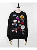 ×<MARC JACOBS>EMBELLISHED SWEATSHIRT(M4007636-001)