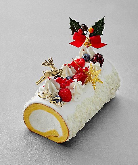 601-991<パティスリー モンシェール>ホワイトクリスマスロール 【三越・伊勢丹/公式】