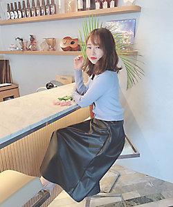 Competito/コンプティート フェイクレザースカート スモールサイズ