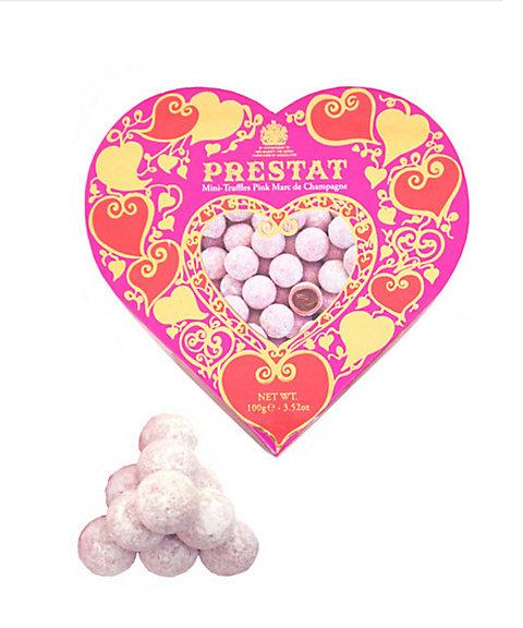 <プレスタ>【チョコレート】ピンクシャンパンミニトリュフハートボックス100g(洋菓子)【三越・伊勢丹/公式】