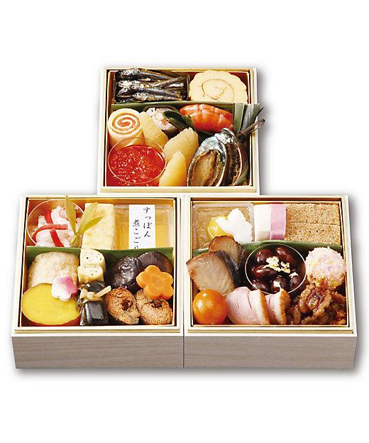 京料理 美濃吉 和風おせちミニ三段【三越伊勢丹/公式】