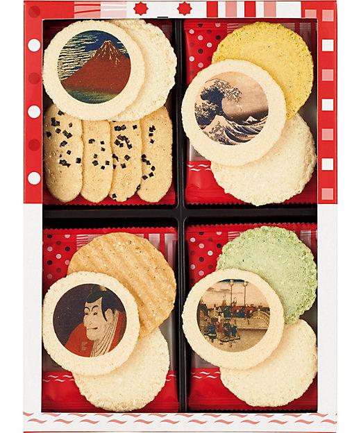 東京国立博物館 限定ギフトえびぱれ 12袋入(和菓子)【三越伊勢丹/公式】