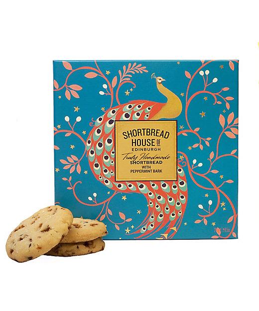 <SHORTBREAD HOUSE OF EDINBURGH/ショートブレッドハウス オブ エディンバラ>【クッキー】ピーコックボックス/ミント&チョコ・塩キャラメル(洋菓子)【三越伊勢丹/公式】