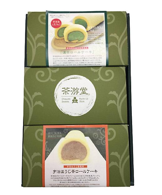 濃茶・宇治ほうじ茶・茶游堂ロールケーキセット