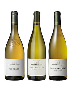04.シャブリの老舗〈ジャン・ジョセフ・モロー〉等級別白ワイン3本セット