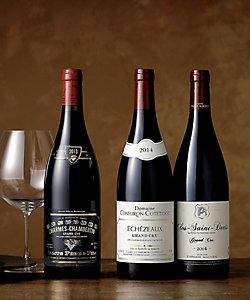 """16.傑出したワイン産地""""コート・ド・ニュイ地区""""のグラン・クリュ赤ワイン3本セット"""