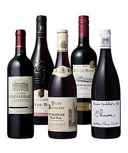 42.フランス品種別デイリー赤ワイン飲みくらべ5本セット