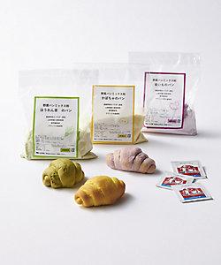 野菜パンの店 ド・ドウ/ヤサイパンノミセ ド・ドウ 野菜パンづくりキット 3袋セット(かぼちゃ、ほうれん草、紫いも)
