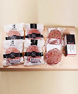 門崎熟成肉 格之進/カンザキジュクセイニク カクノシン 手切りめがね肉入りハンバーグの特別セット