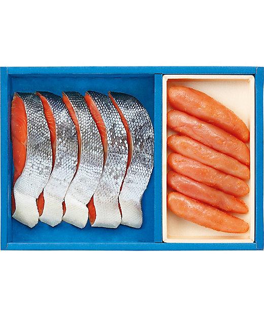 【お中元】【送料無料】紅鮭切身・無着色辛子明太子詰合せ【三越伊勢丹/公式】