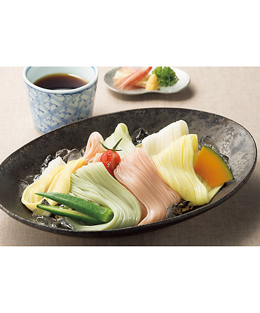 【お中元】夏野菜を使った減塩素麺・減塩つゆ詰合せ 【三越伊勢丹/公式】