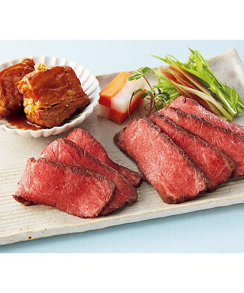 【お中元】<日本料理なだ万> 黒毛和牛ローストビーフ・黒豚の角煮詰合せ 【三越・伊勢丹/公式】