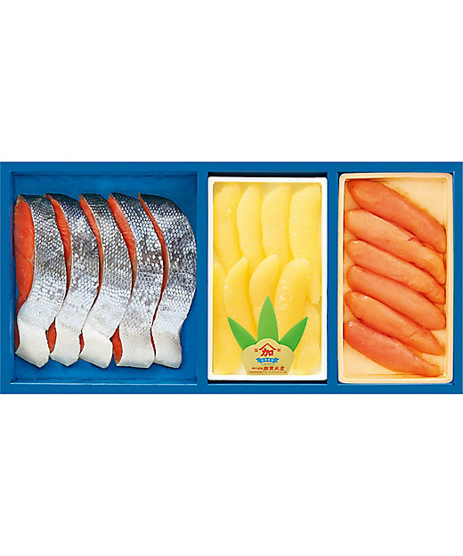 【お歳暮】【送料無料】紅鮭切身・塩数の子・無着色辛子明太子詰合せ【三越伊勢丹/公式】