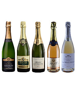 【WEB限定】090.シャンパーニュとロゼスパークリング入り、フランス泡飲み比べ5本セット