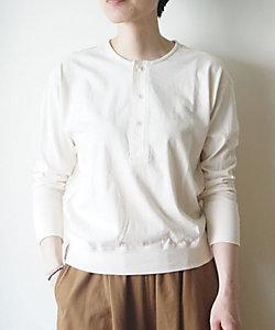 a piece of Library(Women)/ア ピース オブ ライブラリー オールドコットンヘンリーTシャツ