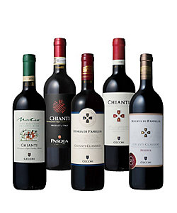 15.イタリアの定番銘柄「キャンティ」スタイル別飲みくらべ赤ワイン5本セット