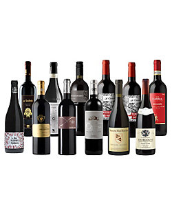 4.フランスvsイタリア 王道12品種飲み比べ 赤ワイン 12本セット