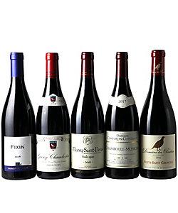 2.赤ワインの銘醸地コート・ド・ニュイ地区村名別赤ワイン5本セット