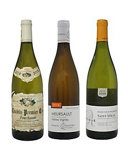 5.ブルゴーニュ産シャルドネ 地域別飲みくらべ白ワイン3本セット