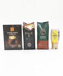 TULLYS COFFEE /タリーズコーヒー レギュラービーンズ&ZIPS&ハニーセット