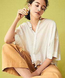 GALERIE VIE(Women)/ギャルリーヴィー インドコットン ワイドスリーブシャツ