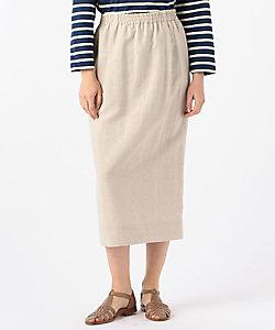 ブロークンサテン Iラインスカート