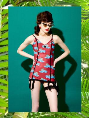 <PAMEO POSE/パメオポーズ>【予約発売】Rosie Swim Dress Leopard(231813200401)<三越・伊勢丹/公式>