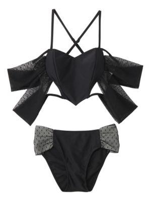 <PAMEO POSE/パメオポーズ>【予約発売】Honey Heart Bikini(231813200601) BLK<三越・伊勢丹/公式>