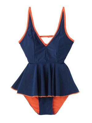 <PAMEO POSE/パメオポーズ>【予約発売】Silvia Two-piece Swim Dress(231813200701) NVY<三越・伊勢丹/公式>