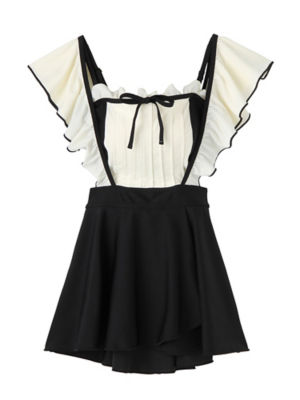 <PAMEO POSE/パメオポーズ>【予約発売】Marie Two-piece Swim Dress(231813200901) BLK<三越・伊勢丹/公式>