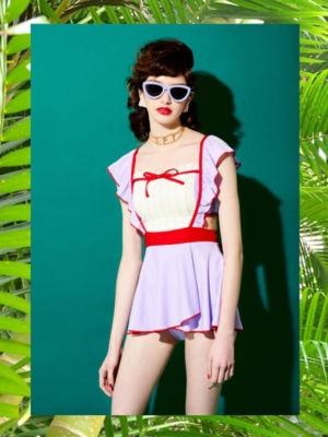 <PAMEO POSE/パメオポーズ>【予約発売】Marie Two-piece Swim Dress(231813200901) PPL<三越・伊勢丹/公式>
