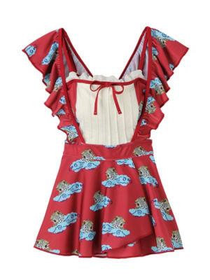 <PAMEO POSE/パメオポーズ>【予約発売】Marie Two-piece Swim Dress Leopard(231813201001) RED<三越・伊勢丹/公式>