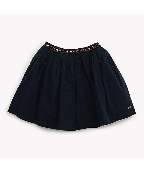 <TOMMY HILFIGER/トミー ヒルフィガー> ウエストロゴプリーツスカート ネイビー 【三越・伊勢丹/公式】