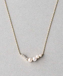 ete bijoux(Women)/エテ ビジュ― K18YG スケール パール/ダイヤモンド ネックレス
