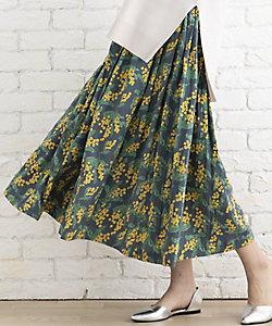 sab street my standard(Women/大きいサイズ)/サブストリート マイスタンダード ミモザプリントスカート プラスサイズ
