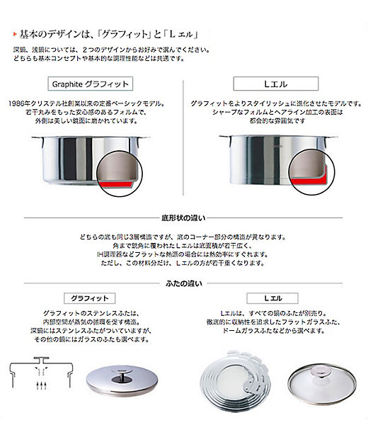 Lシリーズ 両手鍋 浅型 各種