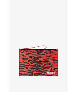 KENZO (Men)/ケンゾー バッグ SS21KY Tiger Large Pouch Leather FB55PM902L43